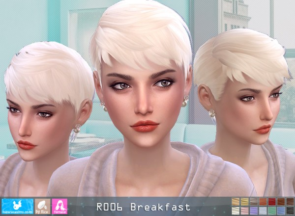 NewSea: Roo6 Breakfeast Hair for Sims 4