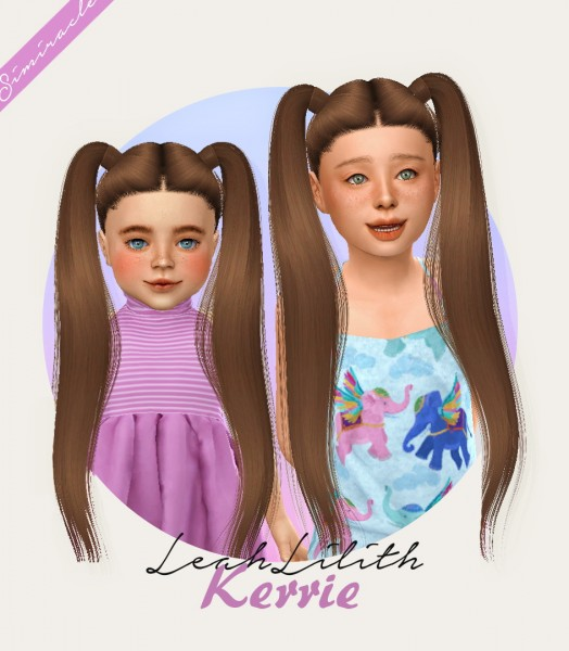 Simiracle: LeahLillith`s Kerrie Hair Retextured for Sims 4