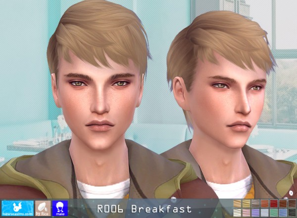 NewSea: R006 Breakfeast Hair for him for Sims 4