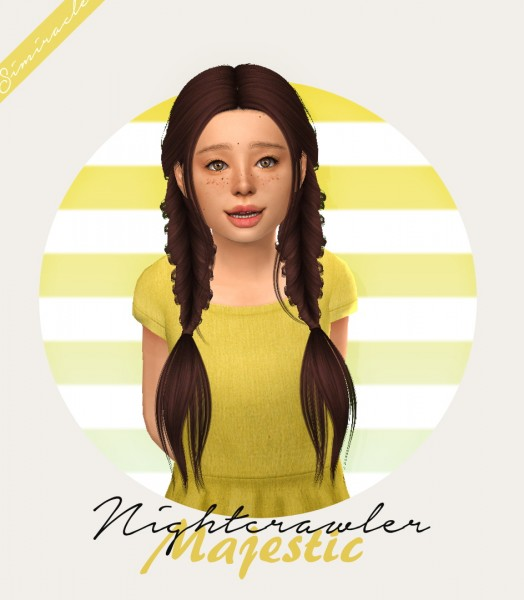 Simiracle: Nightcrawler`s Majestic Hair Retextured   Kids Version for Sims 4