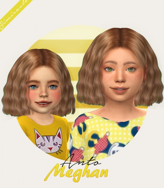 Simiracle: Anto`s Meghan hair retextured for Sims 4