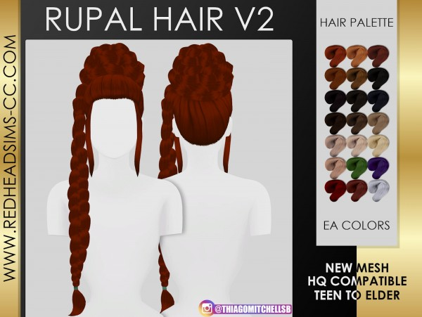 Coupure Electrique: Rupaul Hair for Sims 4