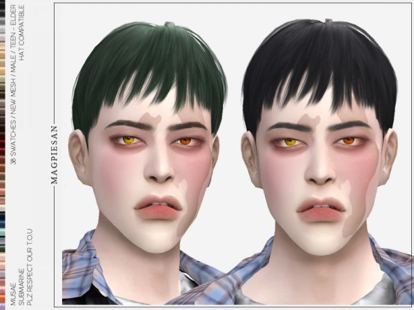 The Sims Resource: Submarine Hair by magpiesan for Sims 4