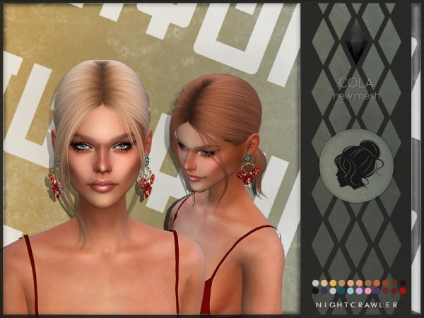 The Sims Resource: Cola hair by Nightcrawler Sims for Sims 4