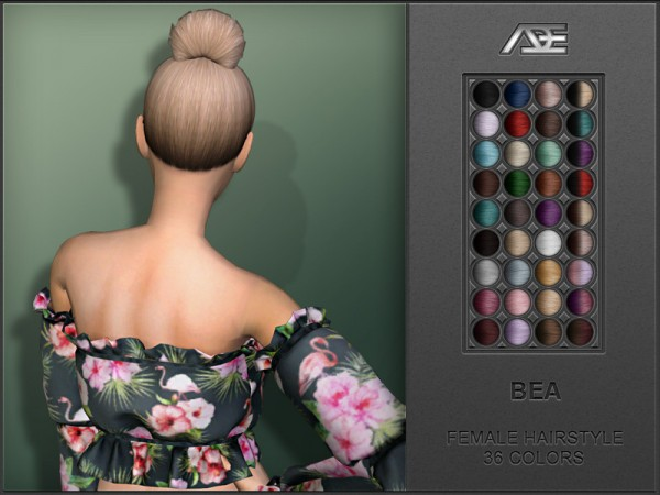 The Sims Resource: Bea Hair by Ade Darma for Sims 4