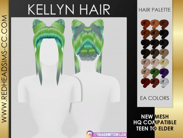 Coupure Electrique: Kellyn Hair for Sims 4