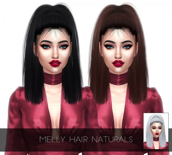 Kenzar Sims: LeahLillith`s Melly Hair Retextured for Sims 4