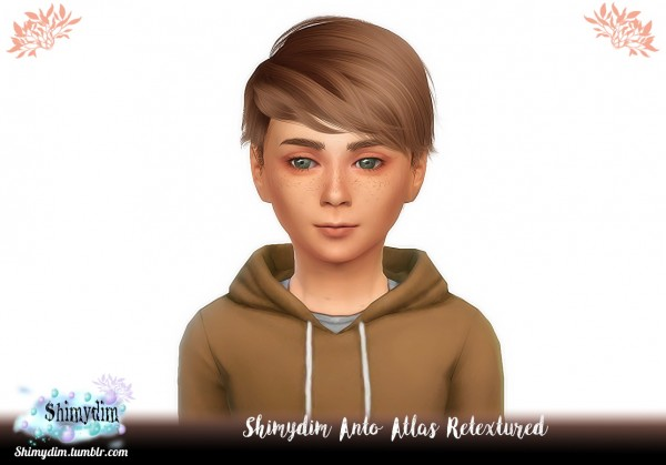 Shimydim: Anto`s Atlas Hair Retextured for Sims 4