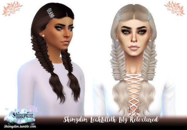 Shimydim: LeahLillith`s Lily Hair Retextured for Sims 4