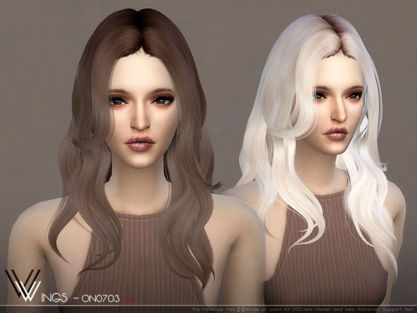 The Sims Resource: WINGS ON0703 hair for Sims 4