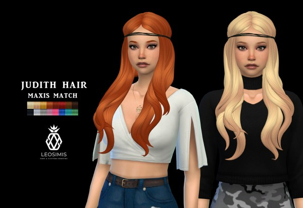 Leo 4 Sims: Judith Hair 2 for Sims 4