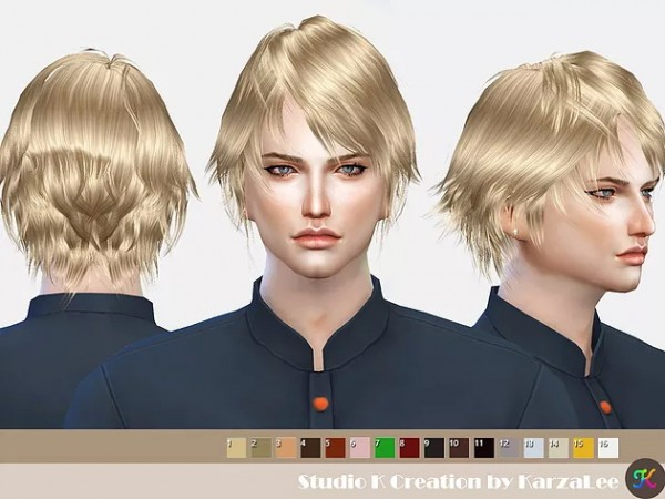 Studio K Creation: Hair SKC01 Nero for Sims 4