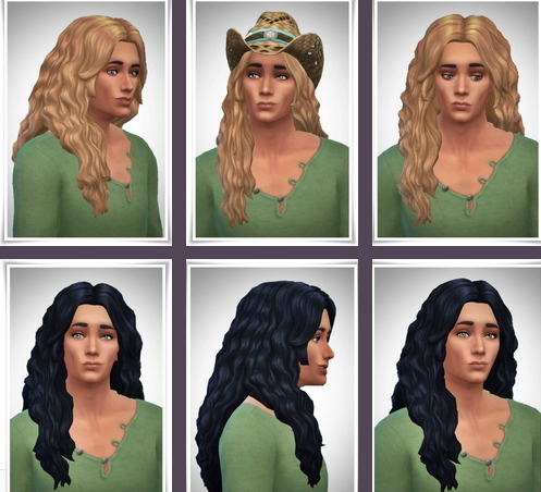 Birksches sims blog: Long Wavy Over Shoulder Hair for Sims 4