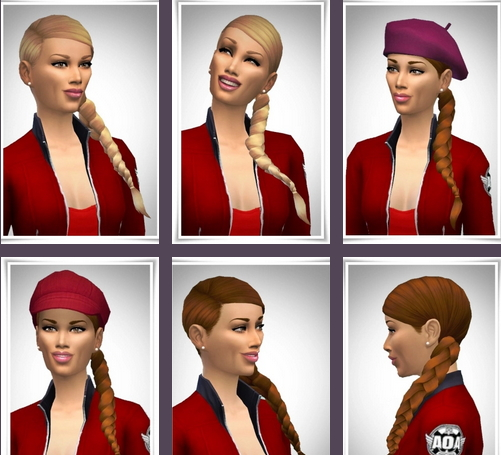 Birksches sims blog: Just Side Pony Tail for Sims 4