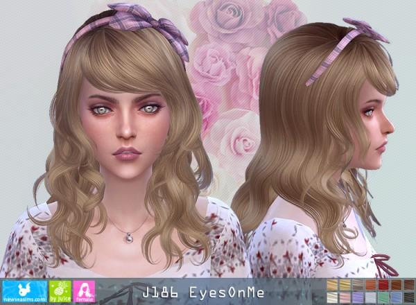 NewSea: J186 EyesOnMe Hair for Sims 4