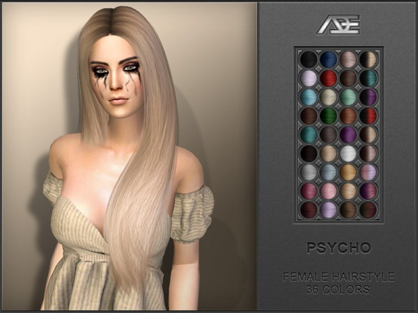 The Sims Resource: Psycho Hair by Ade Darma for Sims 4