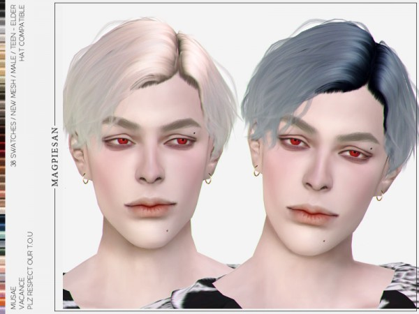 The Sims Resource: Vacance Hair by magpiesan for Sims 4