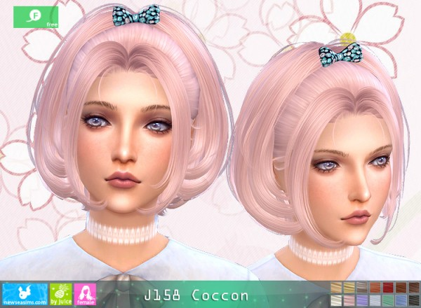NewSea: J158 Coccon Hair for Sims 4