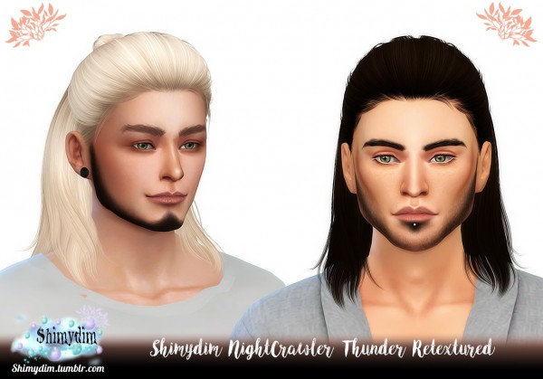 Shimydim: NightCrawler`s Thunder Hair Retextured for Sims 4