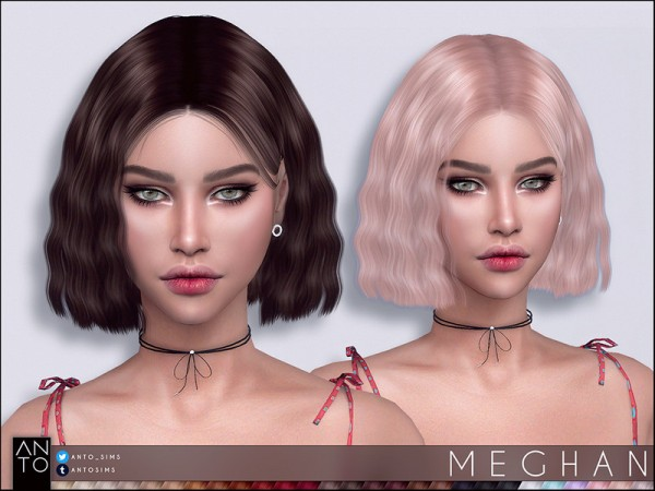The Sims Resource: Meghan hair by Anto for Sims 4