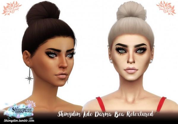 Shimydim: Ade Darma`s Bea Hair Retextured for Sims 4