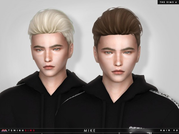 The Sims Resource: Mike hair 90by TsminhSims for Sims 4