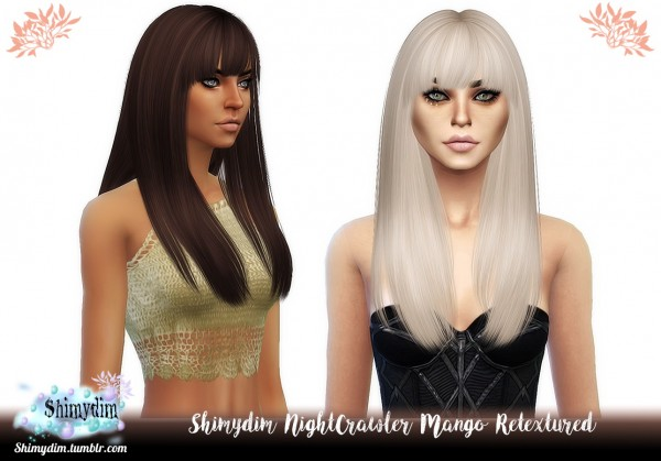 Shimydim: Nightcrawler`s Mango Hair retextured for Sims 4