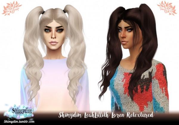 Shimydim: LeahLillith`s Loren Hair Retextured for Sims 4