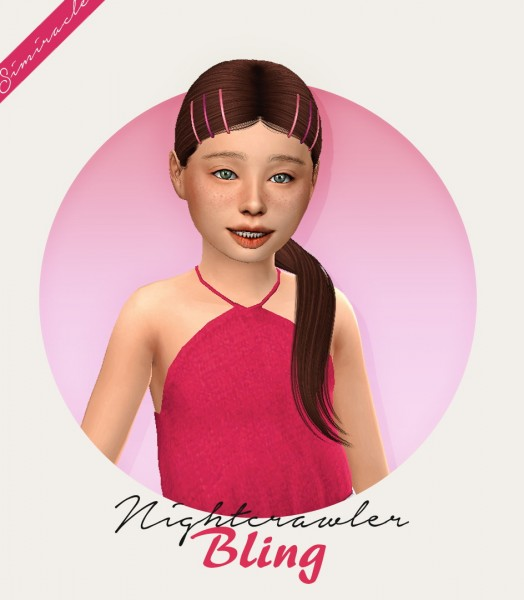 Simiracle: Nightcrawler`s Bling Hair retextured   Kids Version for Sims 4