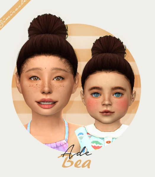 The Sims Resource: Ade Darma`s Bea Hair Retextured for Sims 4