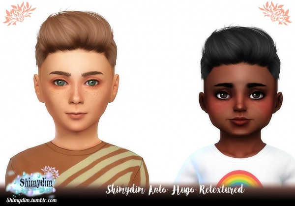 Shimydim: Anto`s Hugo Hair retextured for Sims 4