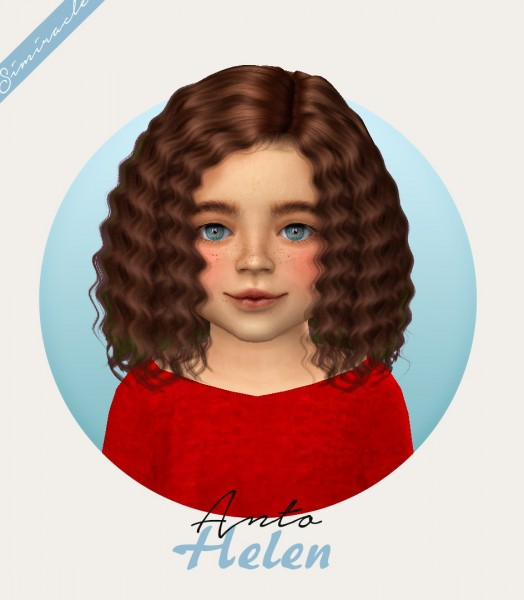 Simiracle: Anto`s Helen Hair Retextured for Sims 4