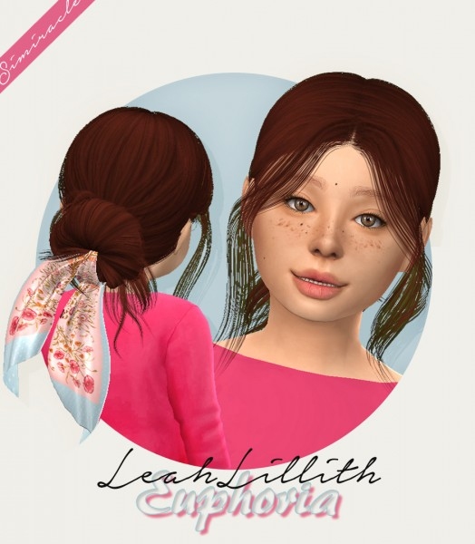 Simiracle: LeahLillith`s Euphoria hair retextured for Sims 4