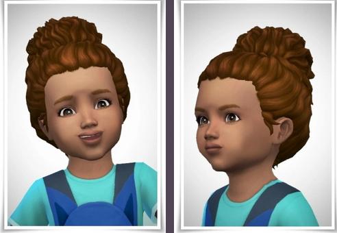 Birksches sims blog: BabyPileUp hair for Sims 4
