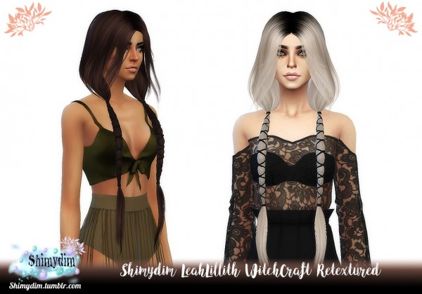 Shimydim: LeahLillith`s WitchCraft Hair Retextured for Sims 4