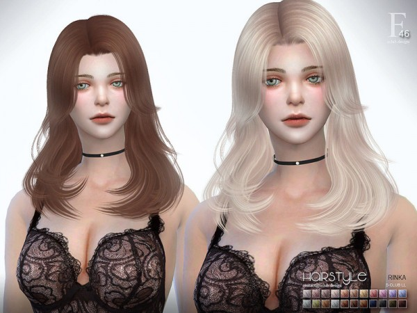 The Sims Resource: Hair Rinka n47 by S Club for Sims 4