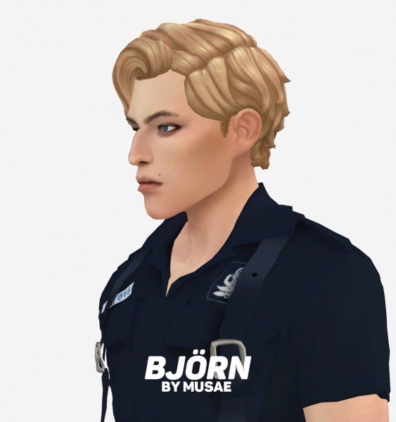 Effie: Bjorn Hair for Sims 4