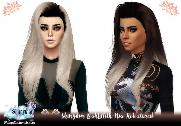 Shimydim: LeahLillith`s Nia Hair retexture for Sims 4