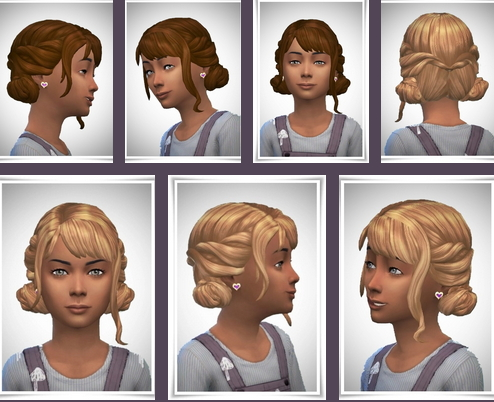 Birksches sims blog: Paula Knots Hair for Sims 4