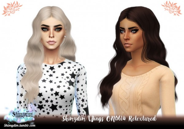 Shimydim: Wings ON0614 Hair Retextured for Sims 4