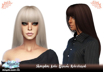 Shimydim: Anto`s Briana Hair Retextured for Sims 4
