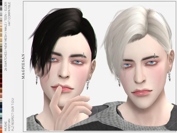 The Sims Resource: Kristian Hair by magpiesan for Sims 4