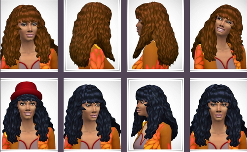 Birksches sims blog: Donna Curls for Sims 4