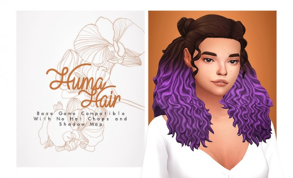 Isjao: Huma hair for Sims 4