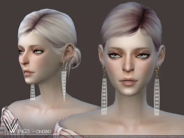 The Sims Resource: WINGS ON0810 hair for Sims 4