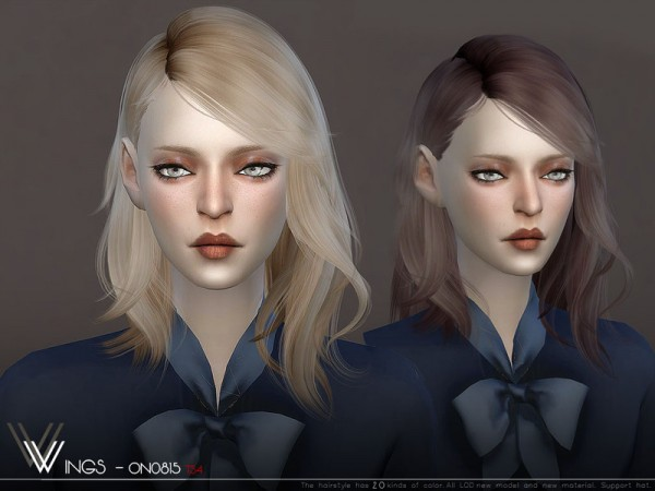 The Sims Resource: WINGS ON0815 hair for Sims 4