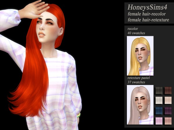 The Sims Resource: Skysims 259 hair retextured by Jenn Honeydew Hum for Sims 4