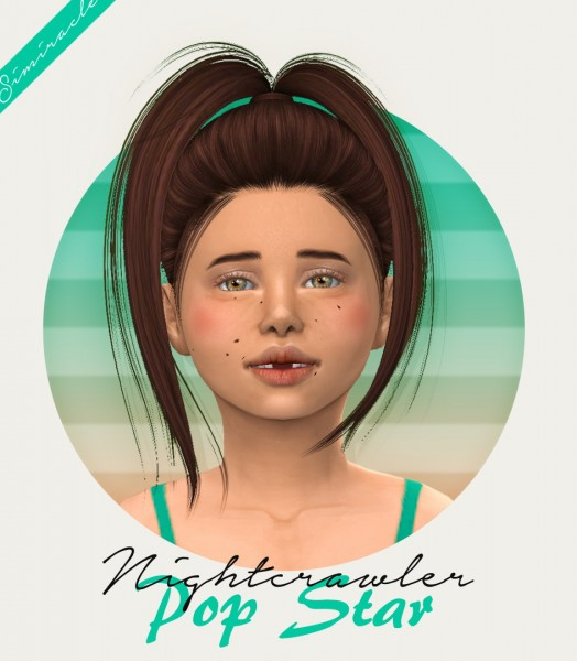 Simiracle: Nightcrawler`s Pop Star hair retextured  Kids Version for Sims 4