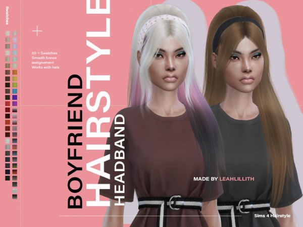 The Sims Resource: Boyfriend Hair by Leah Lillith for Sims 4