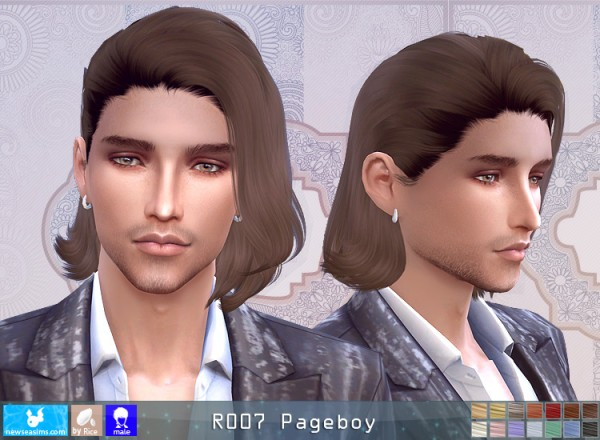 NewSea: R007 Pageboy hair for Sims 4